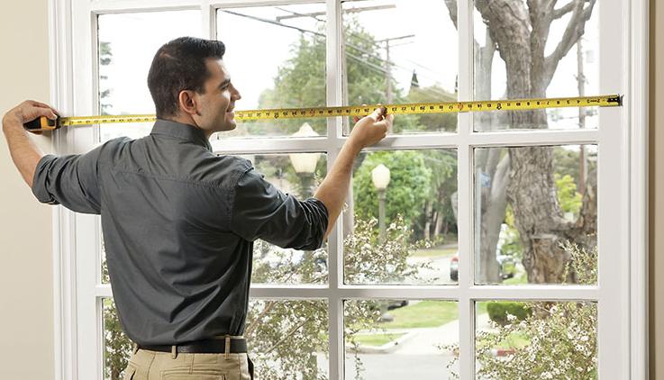 measuring curtains